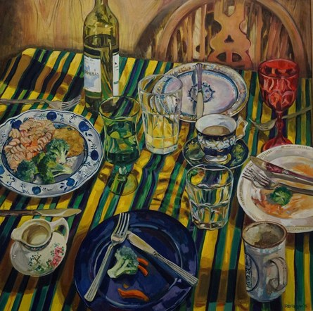 Table for four. Oil on canvas. 2015