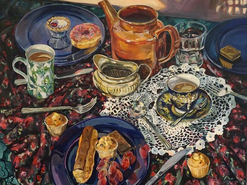 Tea party 2017, 95.5 x 80 cms