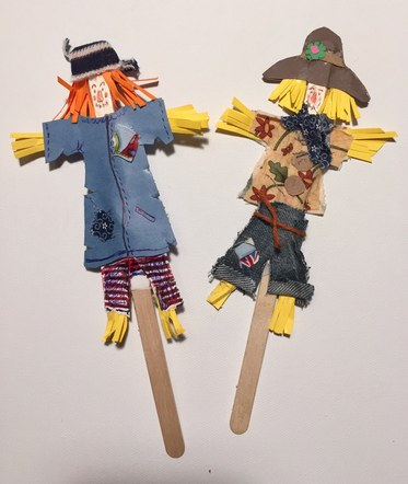 Inspired by the books of Julia Donaldson, 'Stickmen' and 'The scarecrows wedding'