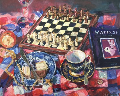 'Masters move' oil on canvas.
