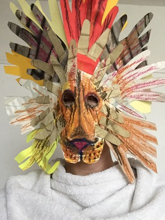 'Dear Zoo' themed mask making. The Atkinson 2019