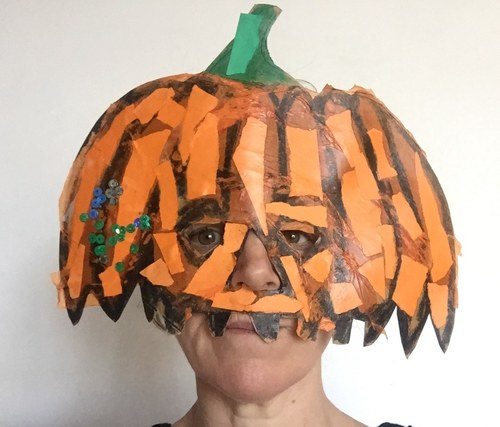 Pumpkin mask...Halloween planning