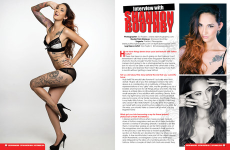 Tattoo Kultür Magazine - Volume 8 - 2 of 7 page spread