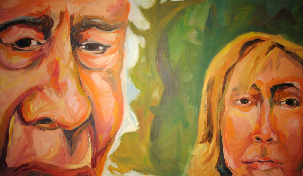 "Lou and Deb 48""x24"""