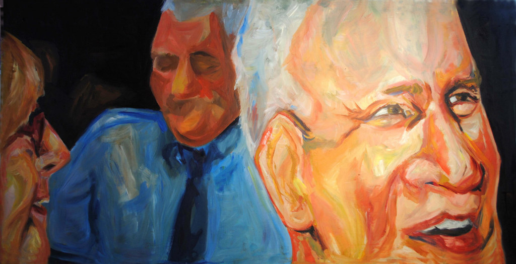 "Trish, Don, and Charles 48""x24"""