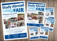 Study Abroad Poster, Flyer, and Handbills.