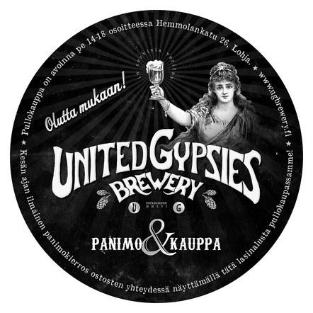 United Gypsies brewery coaster