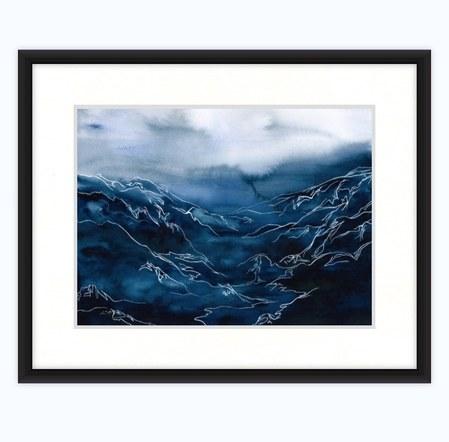 Indigo Valley (Framed)