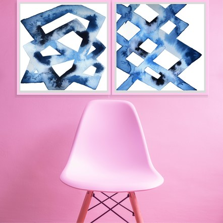 """Trellis"" and ""Chilled Framework"" in a Pink Room"