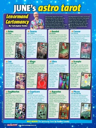 Chris Butler and Lenormand Cartomancy. As featured in the June 2018 issue of Take A Break (Fate and Fortune).