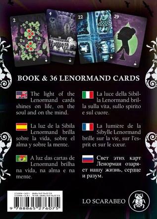 Healing Light Lenormand. Deck and Book Set. Box rear artwork.