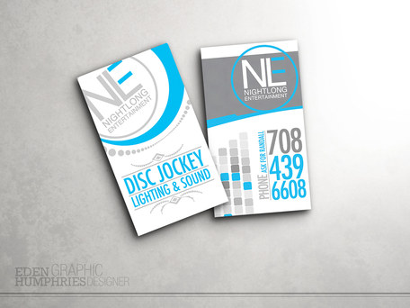 Nightlong Entertainment Business Card
