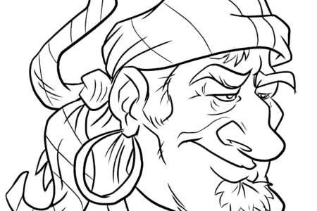 Pirate Coloring Book Art