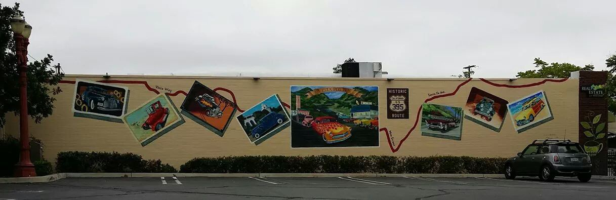 Historic route 395 Mural
