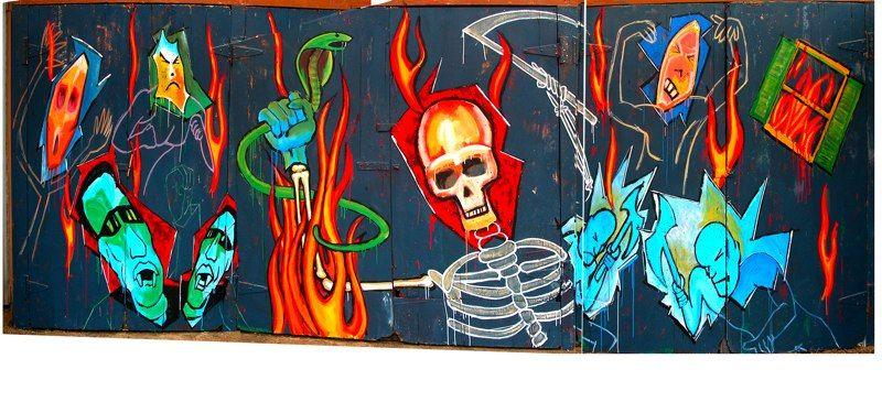 """JOAN OF ARCADIA"" street mural"