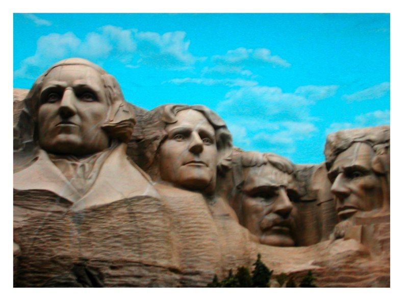 """TEAM AMERICA"" Mt Rushmore model"