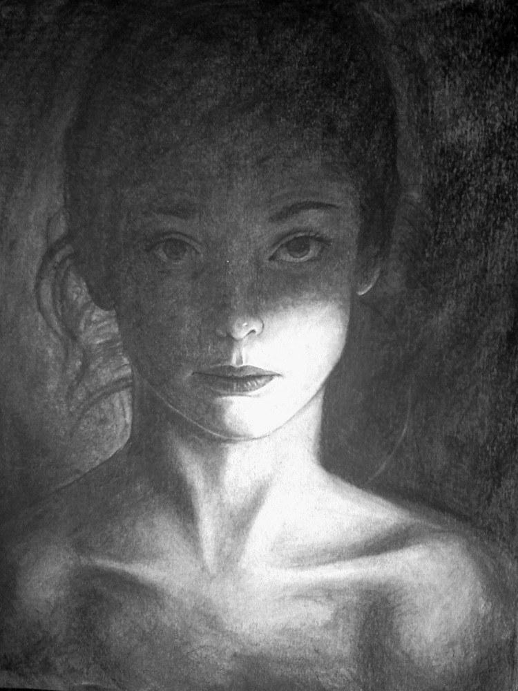 Charcoal Portrait Study