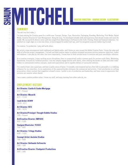 Shaun Mitchell Resume