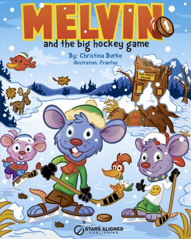 Cover - Melvin and the big hockey game ( amazon.com )