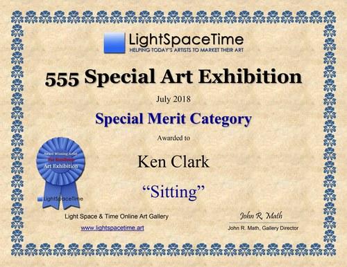 Ken Clark - 555 SPECIAL  ART EXHIBITION AWARD CERTIFICATE
