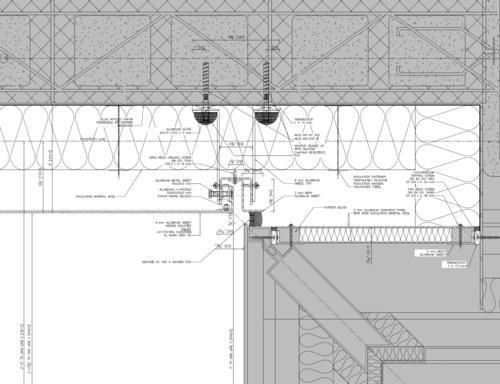 Metal Panel Rainscreen Interface to Existing Facade Detail