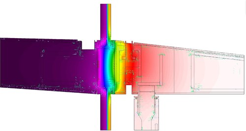 THERM Model - WT-A Portal Frame Canopy Detail