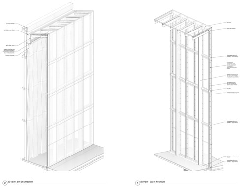 Custom Curtain Wall Axonometric