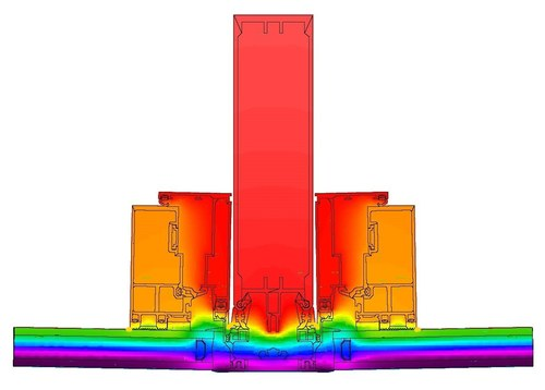 THERM Model - Typical Curtain Wall Mullion Results