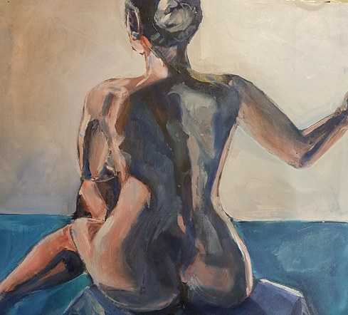 Seated Nude- SOLD