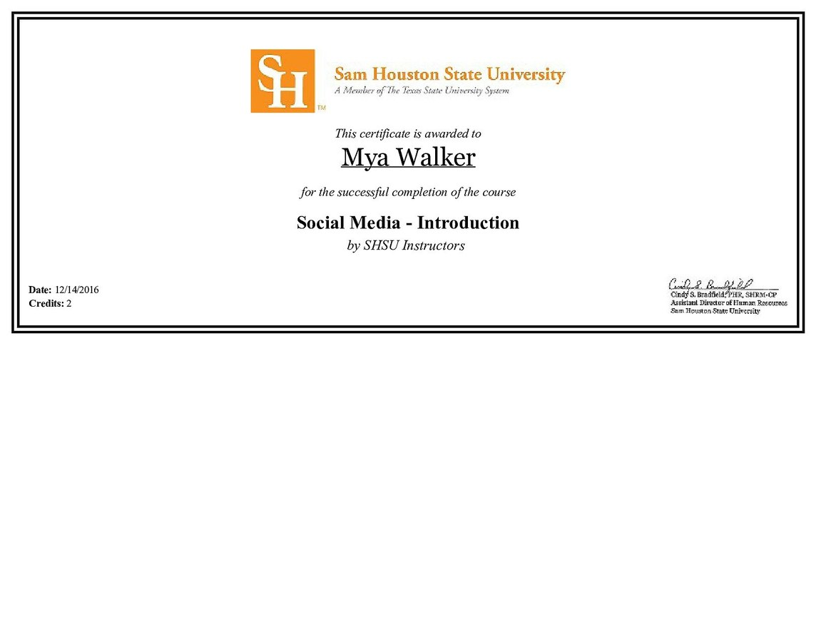 Social Media Training from Sam Houston State University