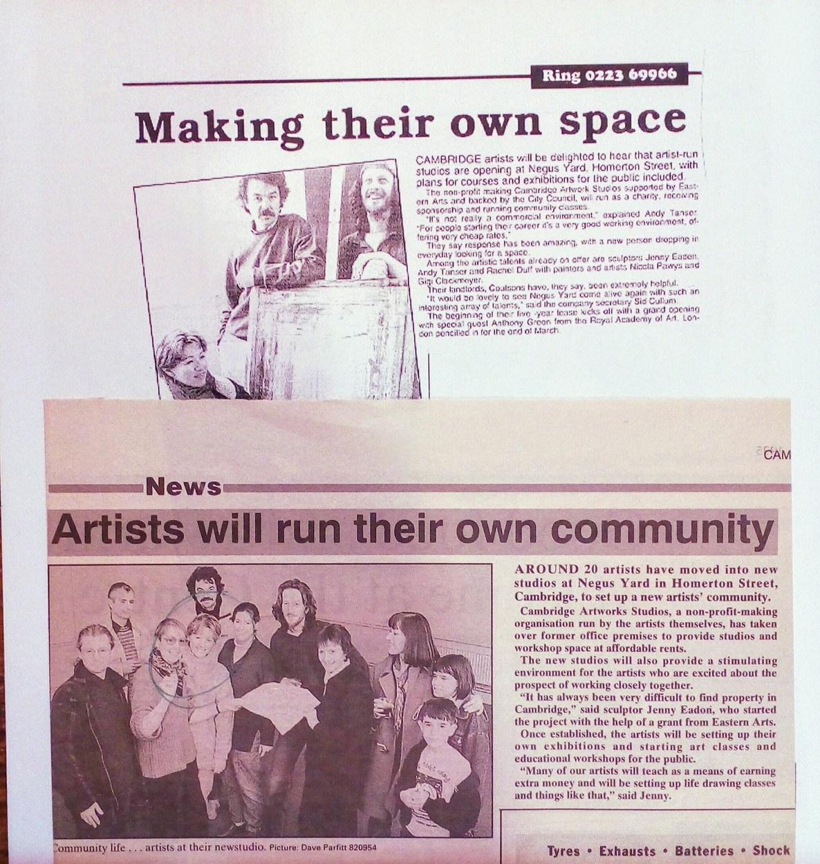 Founding artist run studios