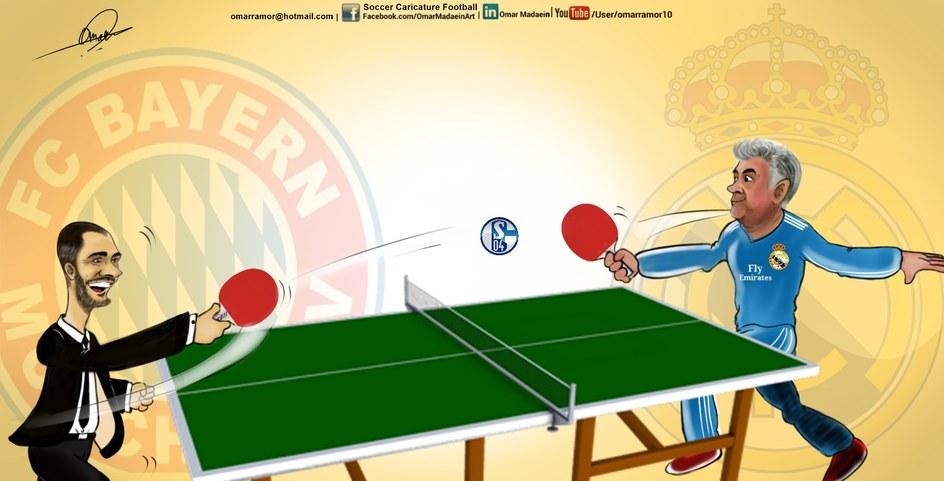 Madrid & Byern playing with shalke3