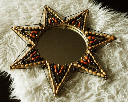 Beaded Mirror