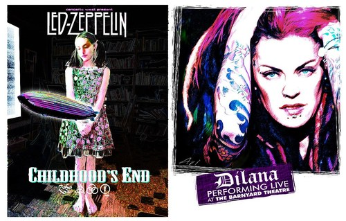 Led Zeppelin and Dilana Ad/Poster
