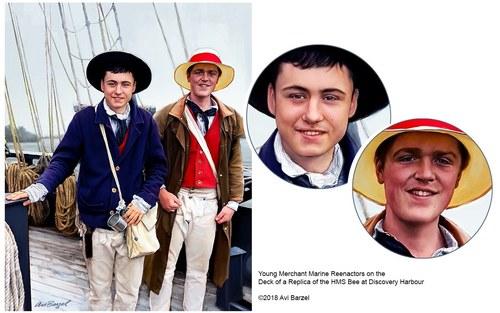 """SAILOR BOYS ON THE """"HMS BEE"""""""