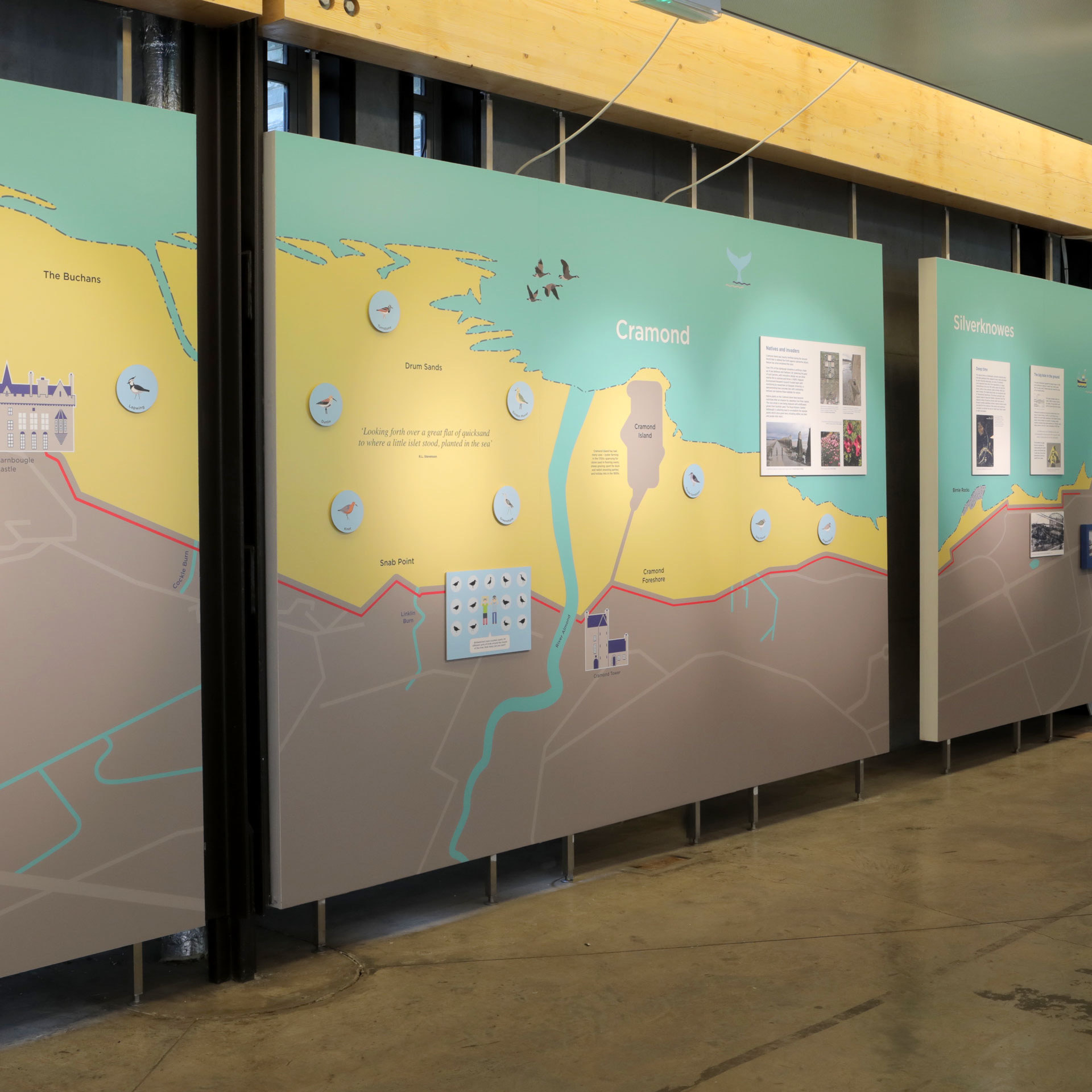 Shoreline exhibition design