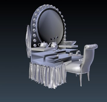 dressing table with accessories
