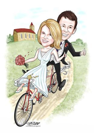 Tandem wedding