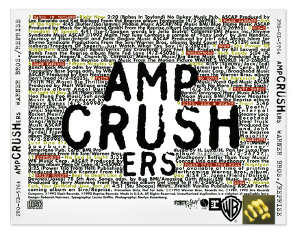 AmpCrushers | CD Inlay Card (typography only)