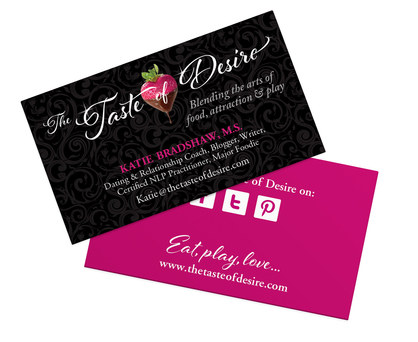 The Taste of Desire | Business Card