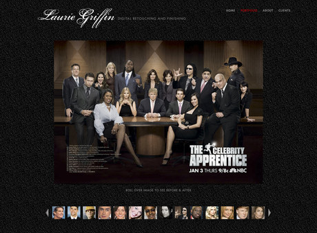 Laurie Griffin Retouching | Website Portfolio Page