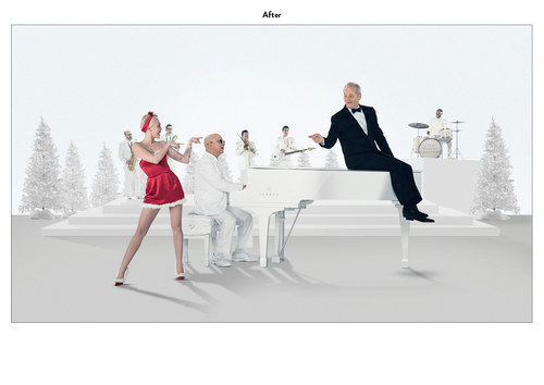 A Very Murray Christmas | Netflix Emmy Mailer Art (After)