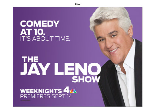 The Jay Leno Show | NBC Show Key Art (After)