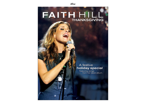 Faith Hill Thanksgiving | NBC Show Advertising Art (After)