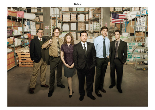 The Office, Season 6 | NBC Show Holiday Card (Before)