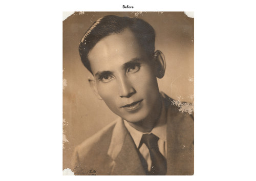 Asian Man | Photo Restoration (Before)