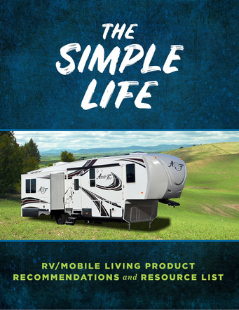 The Simple Life Mobile Living Product List | Website Handout Cover