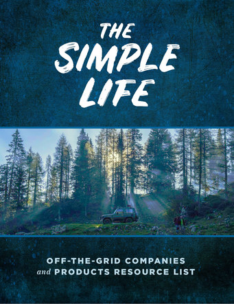 The Simple Life Off-Grid Resource List | Website Handout Cover