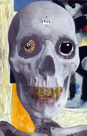 Artist's Skull, 1955 - Mixed Media Collage (on paper) - 2011