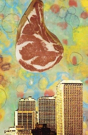Meat City - Mixed Media Collage (on paper) - 2017